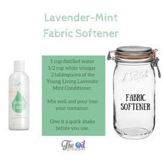 4 Super Simple Natural Cleaning Recipes - The Oil Dropper DIY -fabric-softener<br> 4 Easy DIY Natural Cleaning Recipes you should be using. Get the chemicals out of your home with these easy recipes. Homemade Essential Oils, Essential Oils Cleaning, Essential Oil Uses, Young Living Lavender, Young Living Oils, Young Living Essential Oils, Diy Dish Soap Young Living, Natural Cleaning Recipes, Natural Cleaning Products