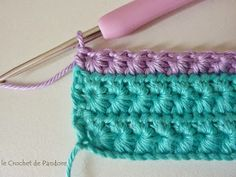 le Crochet de Pandore: Tutorial (star stitch) ༺✿ƬⱤღ https://www.pinterest.com/teretegui/✿༻