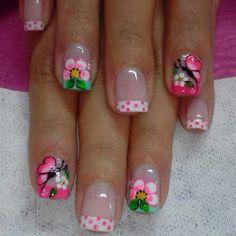 trendy nails art for kids flower Nail Art For Kids, New Nail Art, Diy Nail Designs, Nail Polish Designs, Gold Glitter Nails, Pink Nails, French Nails, Trendy Nail Art, Super Nails