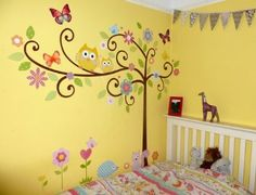 Roommates Repositionable Childrens Wall Stickers, Scroll Tree: Amazon.co.uk: Kitchen & Home