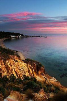 The famous Half Moon Bay, Cali