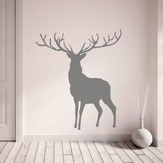 stag and deer vinyl wall stickers by oakdene designs | notonthehighstreet.com
