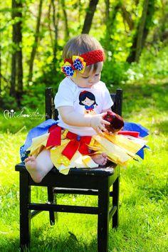 Fabric Tutu snow white tutu Shabby Chic Tutu by ChicSomethings