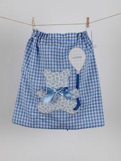#saco #muda #bebé #vichy #azul
