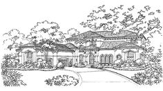 Italianate House Plan with 5463 Square Feet and 4 Bedrooms(s) from Dream Home Source | House Plan Code DHSW43407
