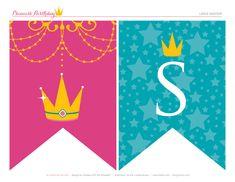FREE Printables: Sparkly Disney Princess Birthday Party