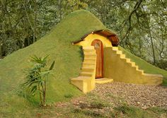 You can build this multipurpose structure for about $300 using earthbag construction (bags filled with earth and stacked like bricks