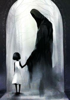 無題 Creepy Drawings, Dark Art Drawings, Creepy Art, Scary, Arte Horror, Horror Art, Dark Fantasy Art, Art Sinistre, Come Little Children