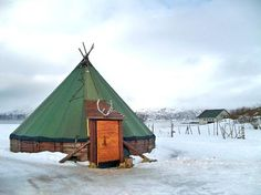 Tromso Friluftsenter: Traditional Sami Lavvu tent. No wonder I have an undying love of yurts and tipis!