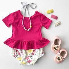 Raspberry Peplum and Spring Bunny Bloomers!