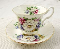 Vintage Royal Albert Floral Tea Cup and Saucer by TheAcreage