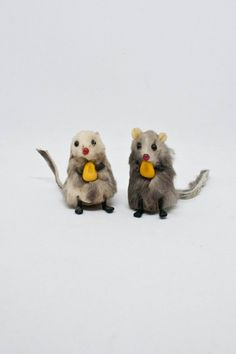 Real Fur Mouse Pair Minature Mice with Corn Kernels Made | Etsy