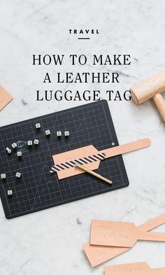 Leather Luggage Tags - a beautiful handmade gift idea! /
