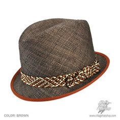 Great for summer, a tailored-looking straw fedora.
