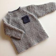 Genser fra Babystrik på pinde 3,5-4 // knitted sweater