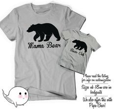 Papa Bear Baby Bear Matching Shirts Set Fathers Day Gift Idea T-Shirt Tee Infant New Toddler Child Kid Gift New Dad Baby Shower Pop Dad Cub op46I2tjaY