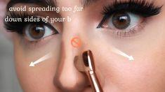 eyeliner styles for big eyes . eyeliner styles for hooded eyes . eyeliner styles simple step by step . eyeliner styles different Nose Makeup, Contouring Makeup, Contouring And Highlighting, Skin Makeup, Makeup Eraser, Make Up Contouring, Contouring For Beginners, Bronzer Makeup, Eyeliner Makeup