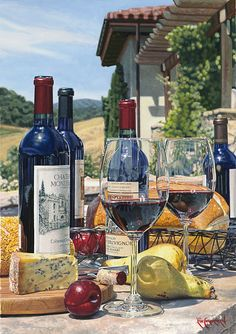 """""""Cabernet Day"""" by Eric Christensen.  Limited Editions available in 24""""x36"""" & 28""""x42"""""""