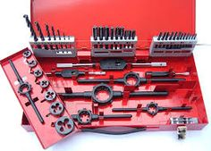 We have a select range of high speed steel tap and die sets, with various pieces in each tap and die set to suit your needs.