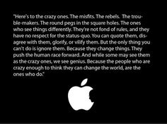Apple - Here's To the Crazy Ones