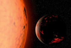 Artist's impression of the Earth scorched by our Sun as it enters its Red Giant Branch phase.