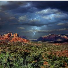 Celebrating the rain today with this amazing photo of Sedona! Is there anything better than desert rain?!  : @the_power_of_failing
