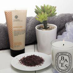 Your best bath: add Kneipp Pure Bliss Mineral Bath Salt and Teadora Nourishing Body Polish
