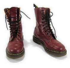 Dr. Martens 10 hole 1490 cherry red boots