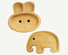 Kids Wooden Plates from Poketo