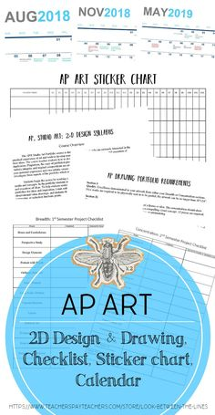 This is everything I hand out my first day of AP Art. AP Art requires organization and strict deadlines, and it's important to get your students on the same page from day one. Included are my 2D Design syllabus, drawing syllabus, calendar with deadlines, checklists, and sticker charts. #apart #tpt #syllabus #firstdayofschool #APcalendar #APbreadth #APconcentration #AP2DDesign #APDrawing #arteducation Visual Art Lessons, Art Education Lessons, School Lessons, High School Art, Middle School Art, Art Syllabus, Crafts For 2 Year Olds, Ap Drawing, Sticker Chart