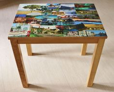 Coffee Table with Beautiful Unique Decoupage Top | eBay