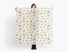 Cheese pattern scarf Door Stickers, Graphic, Cheese, Patterns, Kids, Pattern, Drawing Drawing, Block Prints, Young Children