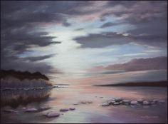 After Blizzard by Olli Malmivaara, Soft pastel on sanded paper 40 x 50 cm