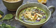 Power C, el batido antivírico Col Kale, Smoothies, Acai Bowl, Breakfast, Food, Spinach, Vegan Recipes, Juices, Vitamin E