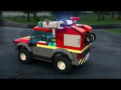 Protect the citizens of LEGO© City with the action-packed 60215 Fire Station, featuring a fire station with office, relaxation room and scout tower, . Lego City Sets, Lego Sets, Lego City Truck, Lego City Fire Station, Minecraft Shops, Lego Fire, Brand Stickers, Rescue Vehicles, Lego Room