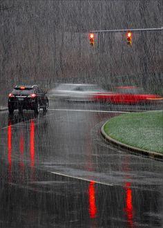 red light & rain