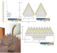 3D origami pattern - Google zoeken                                                                                                                                                                                 More