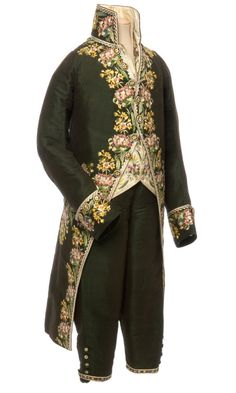 """history-of-fashion:  """"  French costume, coat, waistcoat and breeches, France, 1804-1815  © Les Arts Décoratifs, Paris / photo : Jean Tholance  """""""
