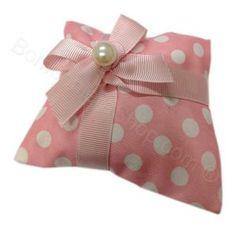 Bustina Rosa a pois bianchi Confezionato con Perla