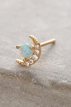 Opal Crescent Earrings