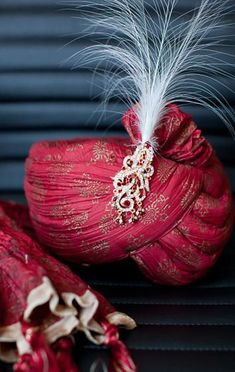 High-Toned Turbans To see more: http://www.functionmania.com/blog/trending-wedding-adornments-men/