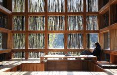 LiYuan Library (Huairou, China) by Li Xiaodong Atelier Architecture Atelier Architecture, World Architecture Festival, Interior Architecture, Interior Design, Library Architecture, Futuristic Architecture, Library Pictures, Wood Facade, Beautiful Library