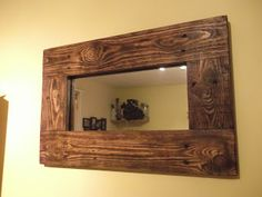 Pallet Projects - Framed Mirror Made From Pallet Wood