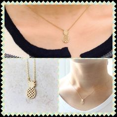 HP Gold Pineapple Necklace Dainty 18k gold plated pineapple necklace Jewelry Necklaces