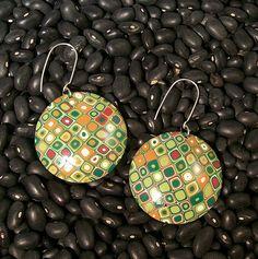 Green Retro Earrings