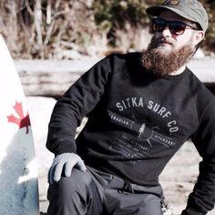Sitka Men's Organic Cotton Heavy Weight Surf Co Crewneck / Sweatshirt/Pullover