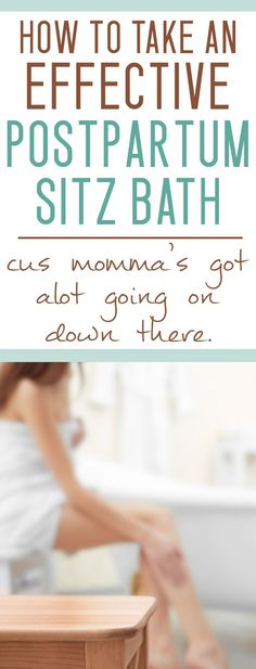 If you have a NEW BABY chances are good you are SORE! Try a sitz bath for postpartum recovery - seriously!