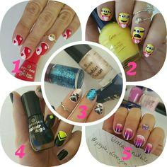 هذه #أظافر المفضلة لدي لشهر شباط. أيهم المفضل لديكم؟ Hello Loves. Here's my Monthly Mani Favorites for February. Which one is your favorite? 1, 2, 3, 4 or 5?