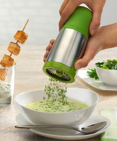 Loving this Green Stainless Steel Herb Mill on #zulily! #zulilyfinds