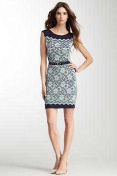 Belted Lace Dress by Decode 1.8 on @HauteLook for Britt's wedding